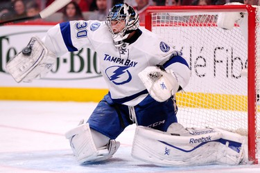 Vezina Trophy - best goaltender  BEN BISHOP, Tampa Bay Lightning  Why: Finally getting his chance to shine, former Senator has been a steady force. Main reason why Tampa didn't flounder when Steven Stamkos was sidelined.  (Photo via Getty Images)