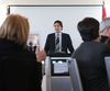 Liberal Party Leader Justin Trudeau speaks to guests at a Greater Kingston Chamber of Commerce lunch Tuesday March 18, 2014 in Kingston. (Elliot Ferguson/QMI Agency)