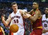 Tyler Hansbrough was a force off of the bench for the Raptors against the Pelican in a win on Wednesday. (Dave Abel/Toronto Sun)