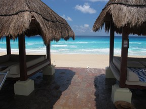 Palapas at the Paradisus Cancun provide shelter from the sun, and the rain. PATRICK WHITE/QMI AGENCY