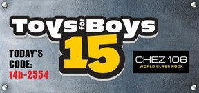 CHEZ Toys for Boys Codeword March 29, 2014