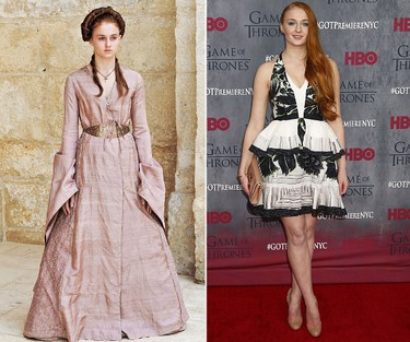 """Sophie Turner (Sansa Stark). INTERESTING FACT: Turner was originally a twin, but her other half died before birth. She says this is what draws her to movies about twins and doubles - like her roles in """"The Thirteenth Tale"""" and """"Another Me."""""""