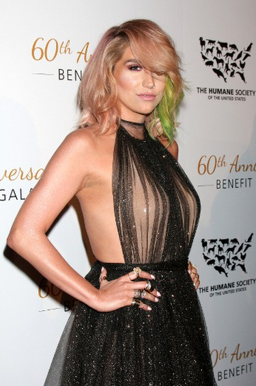 Kesha at Humane Society of the United States Gala 2014 in Los Angeles, March 30, 2014. Nikki Nelson/WENN.com