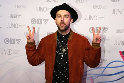 SonReal arrives on the red carpet at the 2014 Juno Awards in Winnipeg March 30, 2014. REUTERS/Trevor Hagan