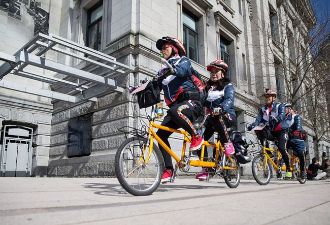 The Golden Generation Cycling Tour will travel 2,000 kilometres to San Jose, with stops in Chinese communities in the cities of Seattle, Portland and San Francisco. (CARMINE MARINELLI/24 HOURS)
