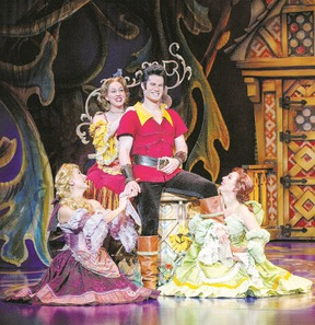 Tim Rogan plays Gaston in Beauty and the Beast on stage at Budweiser Gardens Wednesday, part of the Broadway in London series.