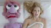 A screenshot of Bar Refaeli's commercial with Muppet Red Orbach. (YouTube)