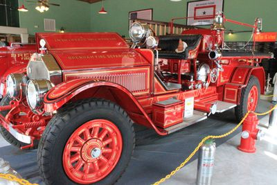 "The star of Brenham's fire truck museum is ""Samanthe,"" a rare 1923 American LaFrance Type 38 fire engine � one of only three still in existence. DONNA DONALDSON PHOTO"