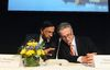 Intergovernmental Panel on Climate Change (IPCC) Chairman Rajendra Pachauri (L) and Co-chairman Thomas Stocker present the U.N. IPCC Climate Report during a news conference in Stockholm.  REUTERS/Bertil Enevag Ericson