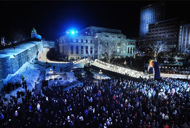 The Red Bull Crashed Ice final in Quebec City on March 22, 2014. ANNIE T ROUSSEL/JOURNAL DE QUEBEC/AGENCE QMI
