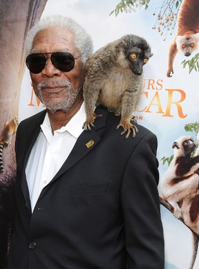 Actor Morgan Freeman arrives at the premiere of 'Island Of Lemurs: Madagascar' at California Science Center on March 29, 2014 in Los Angeles. Angela Weiss/Getty Images/AFP