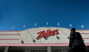 Shoppers leaving Zellers at Bells Corners in Ottawa On. Thursday April 3,  2014. Zellers re-opened as a outlet store after being closed.  Tony Caldwell/Ottawa Sun/QMI Agency
