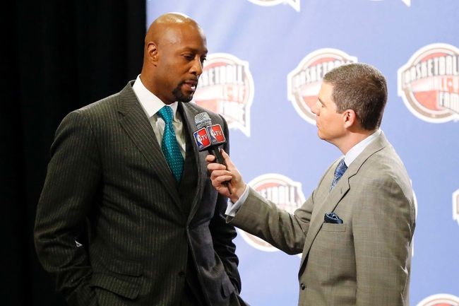 Former player Alonzo Mourning during the NBA Hall of Fame announcement at the New Orleans Hyatt. (Derick E. Hingle-USA TODAY Sports)
