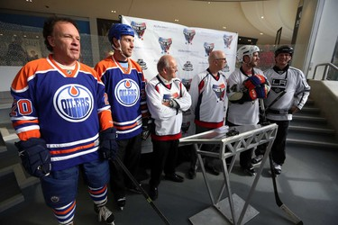 Edmonton Oilers alumni reunite for a friendly game against the media to launch Alzheimer�s Face Off at West Edmonton Mall in Edmonton, Alberta on Monday, Apr 8, 2014.  The Alzheimer Society of Alberta and Northwest Territories brings pro-am hockey event back to Edmonton, April 11 � 13, 2014.  This will mark the official kick-off for the annual pro-am tournament, which raises critical research dollars for the Alzheimer Society.    Perry Mah/ Edmonton Sun/ QMI Agency