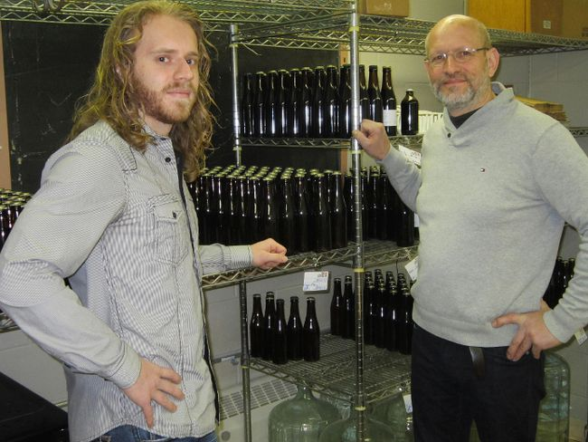 Jo Gevens, right, and son Mischa received permission this week to proceed with a microbrewery operation southeast of Delhi. The New Limburg craft brewery will be situated in the former Nixon Public School. MONTE SONNENBERG / SIMCOE REFORMER