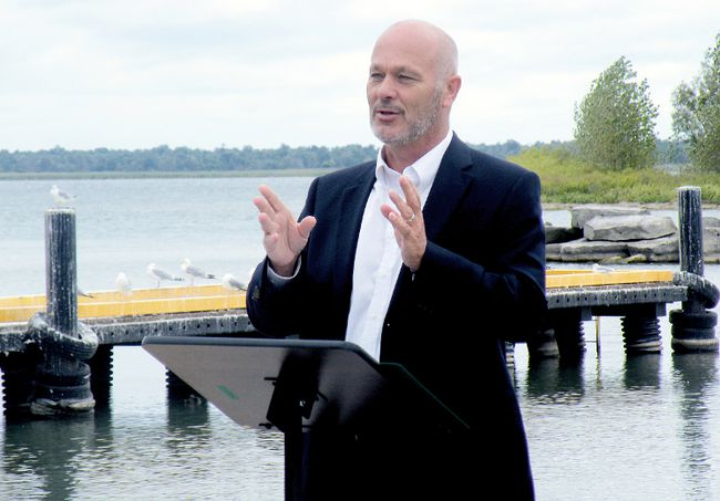 Chatham-Kent Essex MP Dave Van Kesteren announces federal funding for local harbour projects on Tuesday, Sept. 3, 2013. (CONTRIBUTED/ THE CHATHAM DAILY NEWS/ QMI AGENCY)