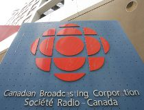CBC building on Front and John Street  in Toronto - CBC logo