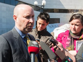 Gupreet Ronald defence lawyer Bruce Engel speaks with the media outside of the Ottawa Courthouse after his client was charged with the  murder of Jagtar Gill of Barrhaven. April 9, 2014. Errol McGihon/Ottawa Sun/QMI Agency