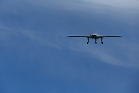 An X-47B pilot-less drone combat aircraft is launched for the first time off an aircraft carrier, the USS George H. W. Bush, in the Atlantic Ocean off the coast of Virginia, May 14, 2013. (REUTERS FILES/Jason Reed)