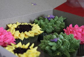 The vaunted 'sunflower' cupcakes that caught both the eyes and taste buds of the judges. The visually-stunning creations earned Cathy Chatten first place in the Upper Deck Cupcake Contest adult competition. Jeff Tribe/Tillsonburg News