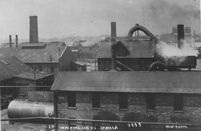This photograph from 1900 of the Sarnia refinery of the Imperial Oil Company was taken by noted postcard photographer James Louis Pesha. It's from the Lambton County Library, Sarnia Branch, Holland-Paisley Collection. (SUBMITTED PHOTO)
