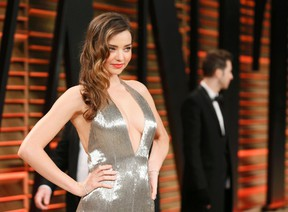 Model Miranda Kerr arrives at the 2014 Vanity Fair Oscars Party in West Hollywood, California March 2, 2014. (REUTERS/Danny Moloshok)