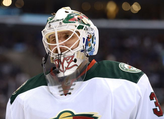 Minnesota Wild goalie Ilya Bryzgalov faces the Colorado Avalanche on Thursday in Game 1 of their Western Conference series. (Getty Images/AFP)
