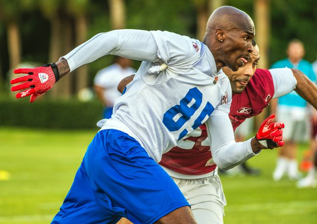 After attending Montreal Alouettes mini-camp this week, Chad Johnson signed a two-year deal with the CFL club. (Montreal Alouettes)