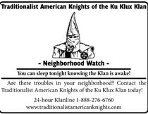 The Ku Klux Klan have launched neighbourhood watch programs, including in Fairview Township, Pa. They distributed this flyer to homes in the area. (Photo: Ku Klux Klan website/QMI Agency)