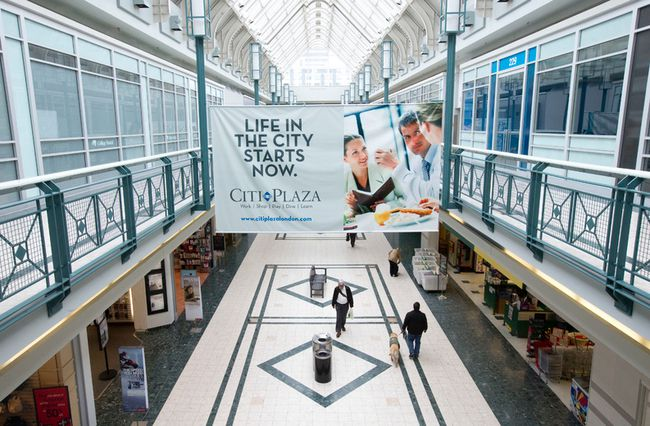 Patrons walk through Citi Plaza in London on Tuesday. The downtown complex has an overall occupancy rate of 87%, but has lost outlets such as Suzy Shier and 1850. (CRAIG GLOVER/The London Free Press)