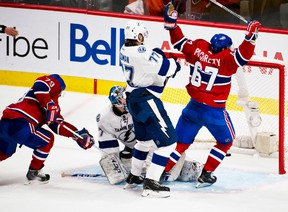 Canadiens' Max Pacioretty scores the game-winner late in Game 4 to complete the sweep Tuesday night in Montreal. (QMI Agency)