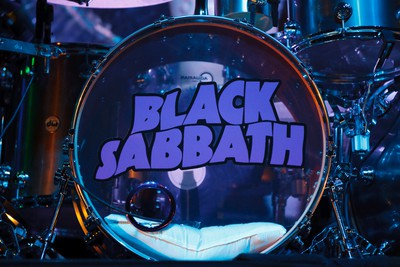 Black Sabbath's touring drummer Tommy Clufetos' drums are seen as he performs with the band at Rexall Place in Edmonton, Alta., on Tuesday, April 22, 2014. The English band are touring in support of their latest album 13. Ian Kucerak/Edmonton Sun/QMI Agency