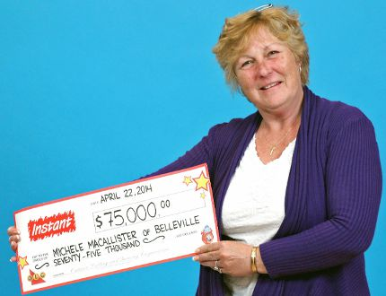 Belleville's Michele MacAllister is the winner of a $75,000 top prize with Instant More Lucky Lines. OLG reported the winning ticket was purchased at John's Variety Store on Station Street in Belleville. Instant More Lucky Lines is available for $3 a play and the top prize is $75,000. Odds of winning a prize are one in 3.27.