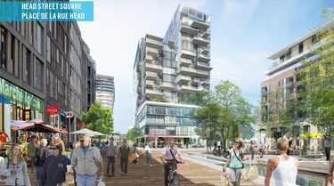 OTTAWA (04-22-2014) � This is a sketch of a proposed waterfront development by Windmill Development Group. It's a  $1-billion plan to redevelop the old Domtar lands on the Ottawa River. JON WILLING/OTTAWA SUN/QMI Agency