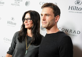 Courtney Cox and boyfriend (possible fiance) Johhny McDaid.  Angela Weiss/Getty Images for Tribeca Film Festival/AFP