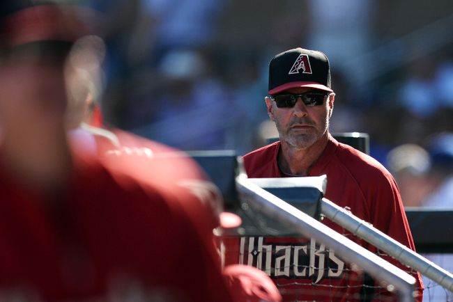 Arizona Diamondbacks manager Kirk Gibson (23) is on the hot seat early in the season. (Joe Camporeale-USA TODAY Sports)