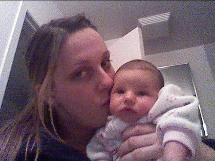 Christine Leclair and daughter Cali, tot attacked by pitbull