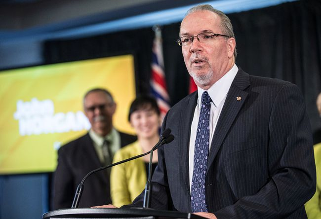 BC NDP leadership candidate John Horgan speaks to supports in March. (FILE PHOTO/24 HOURS)