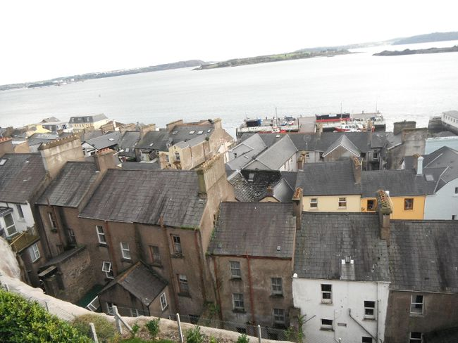 Looking over the slate rooftops of Cobh and the massive Cobh Harbour, from which thousands of Irish families migrated to Canada and beyond. TED RATH/QMI AGENCY