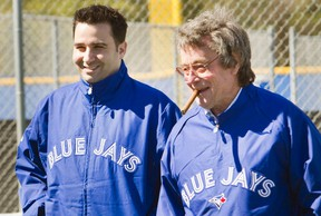 Blue Jays GM Alex Anthopoulos (left) and president Paul Beeston (Reuters)
