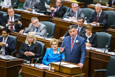 Ontario Finance Minister Charles Sousa announces the provincial budget at Queen's Park in Toronto, Ont.  on Thursday May 1, 2014. Ernest Doroszuk/Toronto Sun/QMI Agency