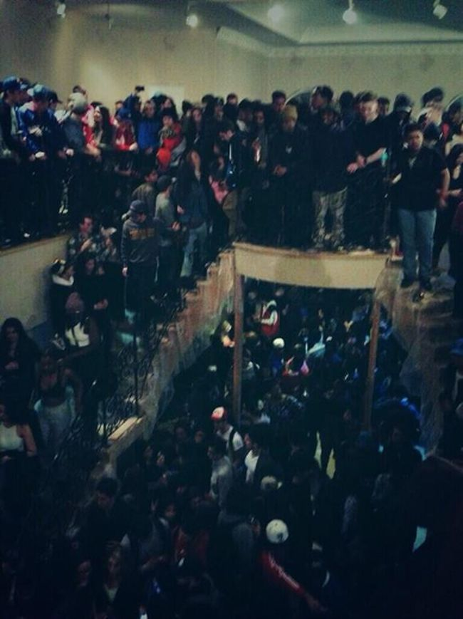 This picture was posted to Twitter Friday night, using the hashtag #MansionParty.  Brampton