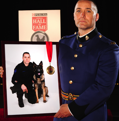 Police service dog Quanto and const. Matthew Williamson