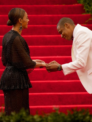 Jay-Z and Beyoncé at the 'Charles James: Beyond Fashion' Costume Institute Gala at the Metropolitan Museum of Art. (Alberto Reyes/WENN.com)