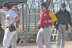 Action from a PCI Trojans baseball game last week.