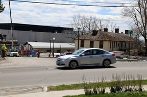 A view of King and Morton streets near where a pedestrian-controlled crosswalk will be installed by the City of Kingston in front of the Isabel Bader Centre for the Performing Arts in Kingston on Tuesday. IAN MACALPINE /KINGSTON WHIG-STANDARD/QMI AGENCY