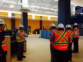 A sneak peek inside the new Graham Avenue police headquarters May 6, 2014. (TWITTER.COM)