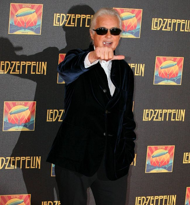 Jimmy Page is seen at the premiere of 'Celebration Day' at the Hammersmith Apollo in London, Dec. 10, 2012. WENN.com