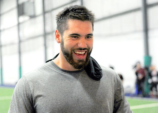 Laurent Duvernay-Tardif, a Canadian med-school student drafted by the Kansas City Chiefs in the sixth round, was busy in the OR while an emergency C-section was being performed during the second round of picks. (JOCELYN MALETTE/QMI Agency)
