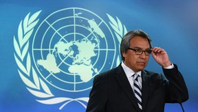 James Anaya, the United Nations Special Rapporteur on the Rights of Indigenous Peoples. REUTERS/Chris Wattie